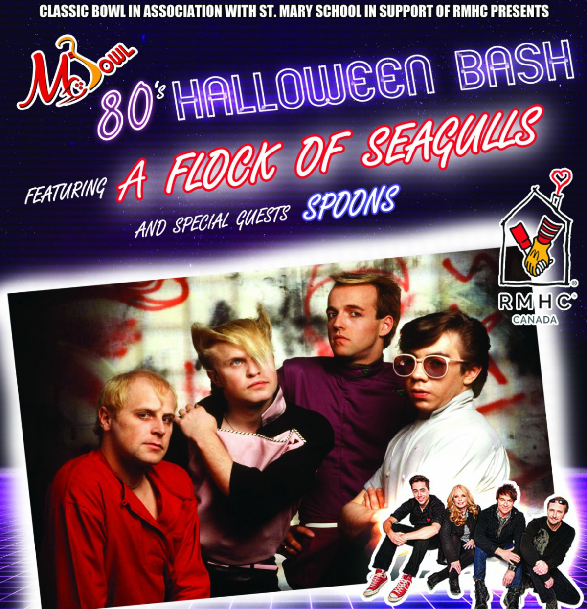 See Flock Of Seagulls and The Spoons